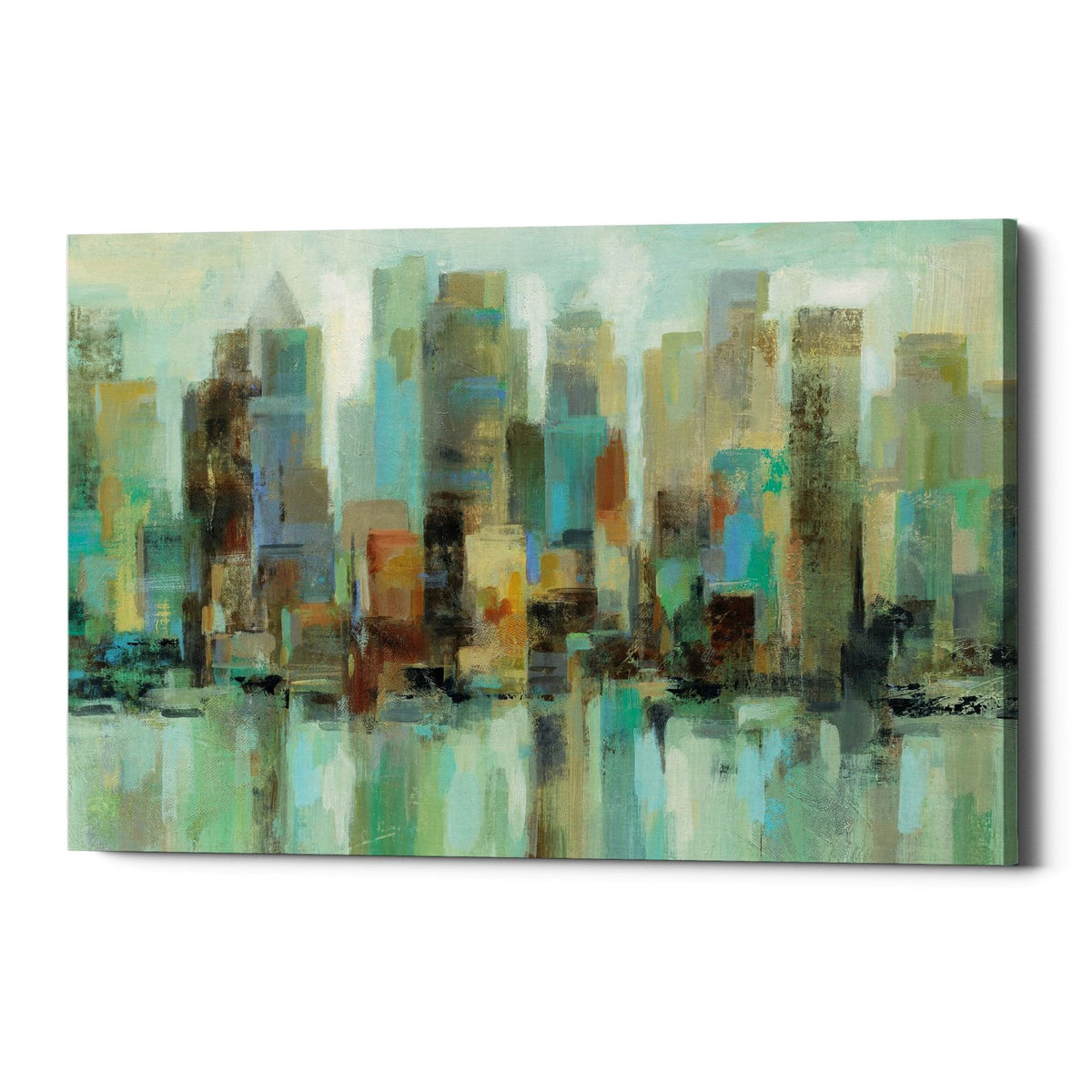 "Epic Graffiti ""Morning Reflections"" by Silvia Vassileva, Giclee Canvas Wall Art"