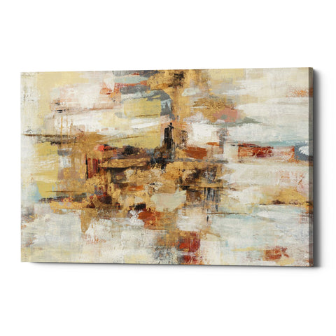 "Epic Graffiti ""Old Bridge Reminiscence"" by Silvia Vassileva, Giclee Canvas Wall Art"