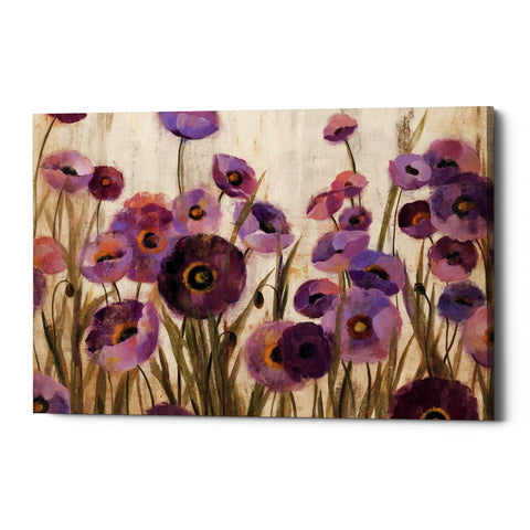 "Epic Graffiti ""Pink And Purple Flowers"" by Silvia Vassileva, Giclee Canvas Wall Art"