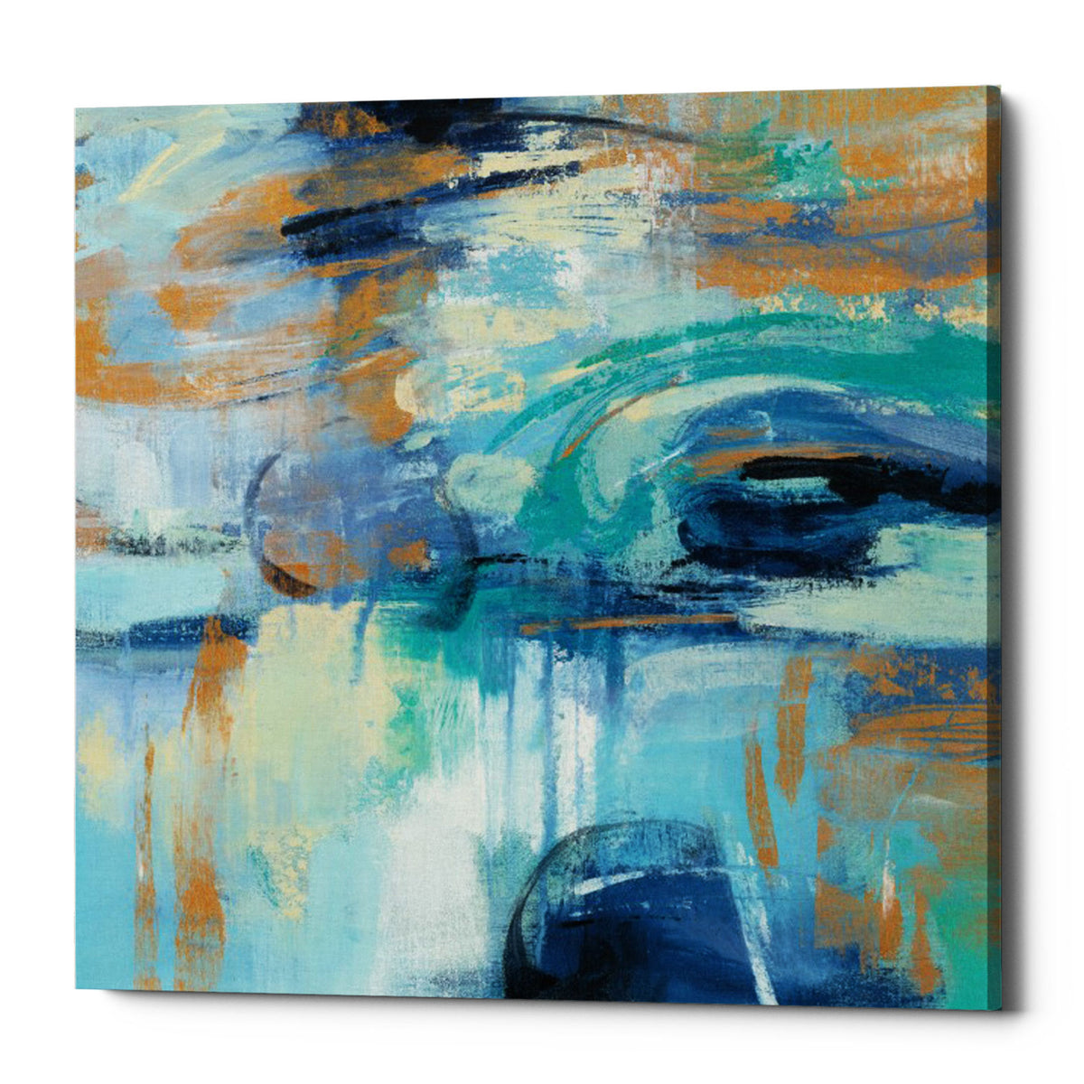 "Epic Graffiti ""Sapphire Ring"" by Silvia Vassileva, Giclee Canvas Wall Art"