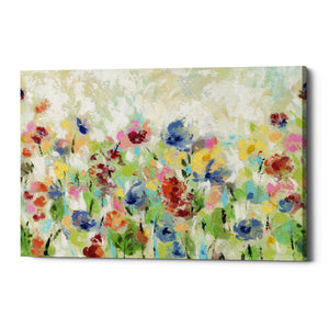 "Epic Graffiti ""Springtime Meadow Flowers"" by Silvia Vassileva, Giclee Canvas Wall Art"