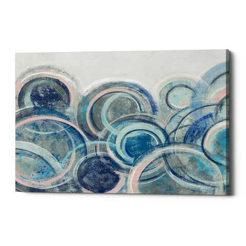 "Epic Graffiti ""Variation Blue Grey Pink"" by Silvia Vassileva, Giclee Canvas Wall Art"