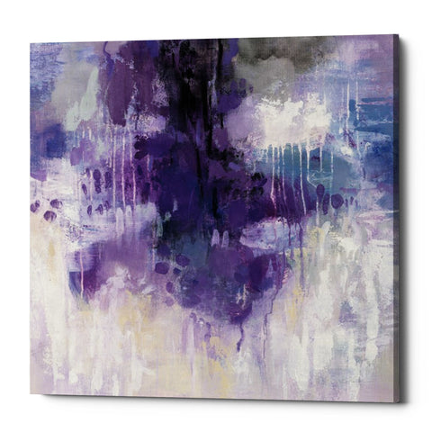 "Epic Graffiti ""Violet Rain"" by Silvia Vassileva, Giclee Canvas Wall Art"