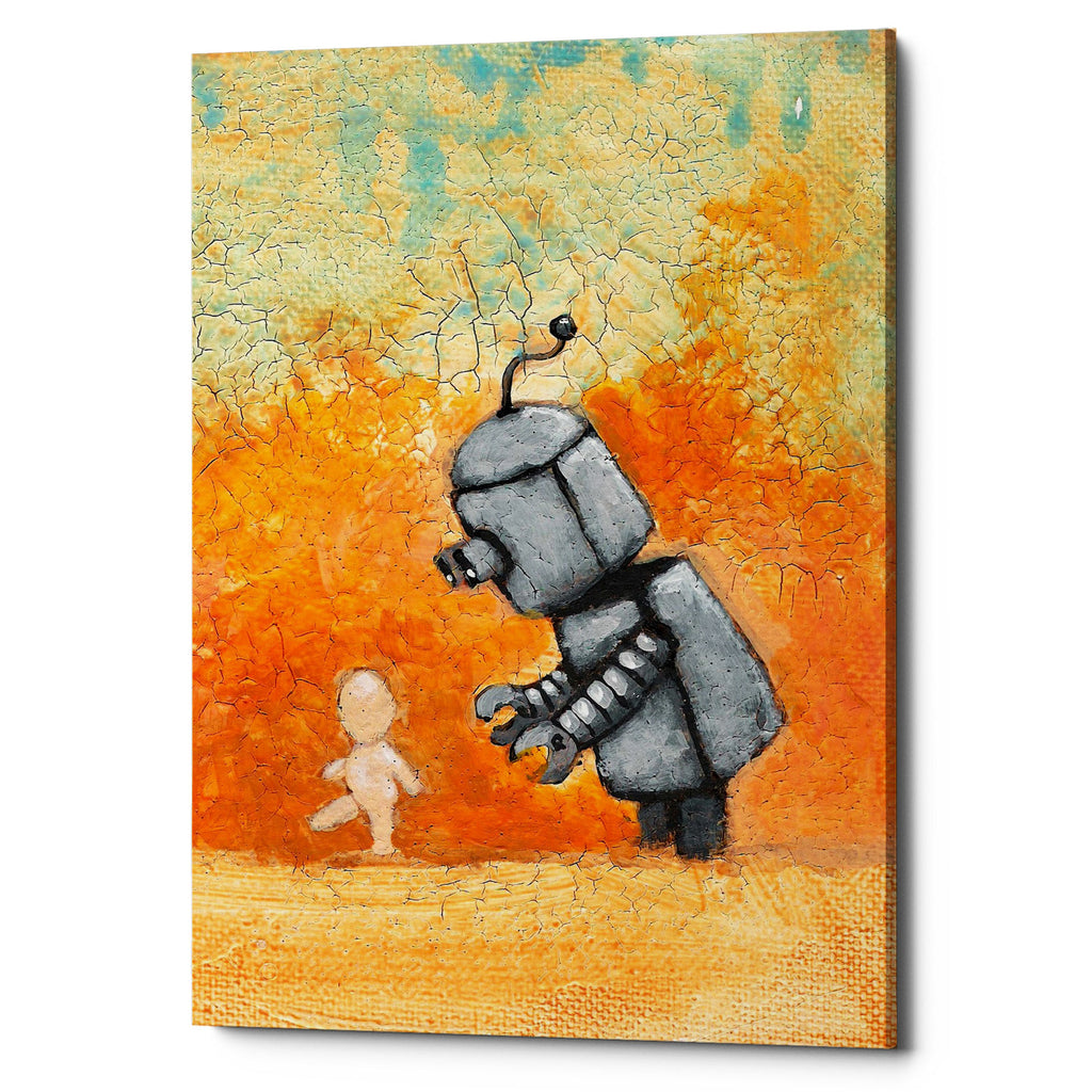 "Epic Graffiti ""Bot Baby"" by Craig Snodgrass, Giclee Canvas Wall Art"