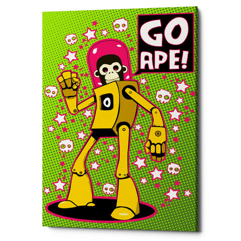 "Epic Graffiti ""Go Ape"" by Craig Snodgrass, Giclee Canvas Wall Art"