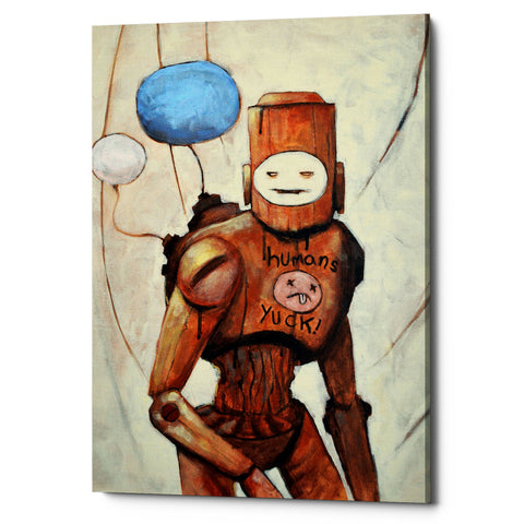 "Epic Graffiti ""Humans Yuck!"" by Craig Snodgrass, Giclee Canvas Wall Art"