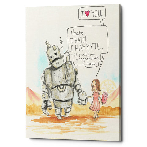 "Epic Graffiti ""I Hate"" by Craig Snodgrass, Giclee Canvas Wall Art"