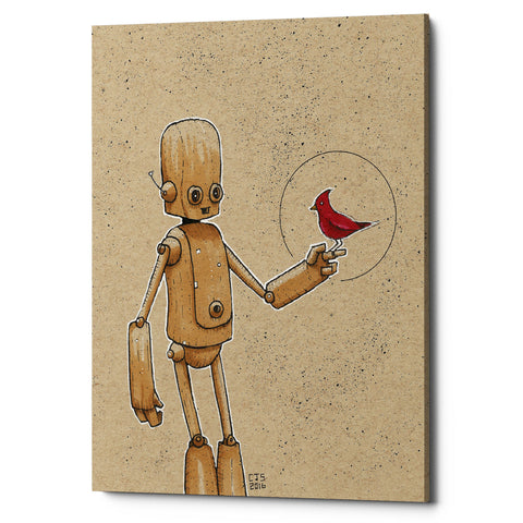 "Epic Graffiti ""Ink Bot Cardinal"" by Craig Snodgrass, Giclee Canvas Wall Art"