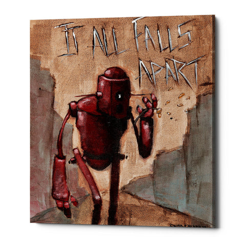 "Epic Graffiti ""It All Falls Apart"" by Craig Snodgrass, Giclee Canvas Wall Art"