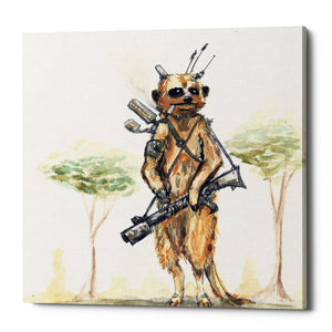 "Epic Graffiti ""Meerkat"" by Craig Snodgrass, Giclee Canvas Wall Art"