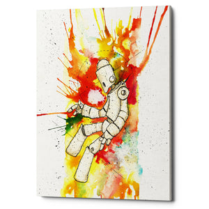 "Epic Graffiti ""Nebula Bot"" by Craig Snodgrass, Giclee Canvas Wall Art"