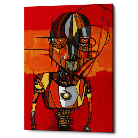 "Epic Graffiti ""Segmented Man Orange"" by Craig Snodgrass, Giclee Canvas Wall Art"
