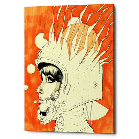 "Epic Graffiti ""Space Queen Fire"" by Craig Snodgrass, Giclee Canvas Wall Art"