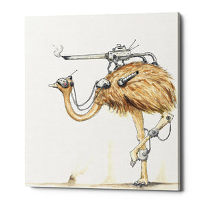 "Epic Graffiti ""War Emu"" by Craig Snodgrass, Giclee Canvas Wall Art"