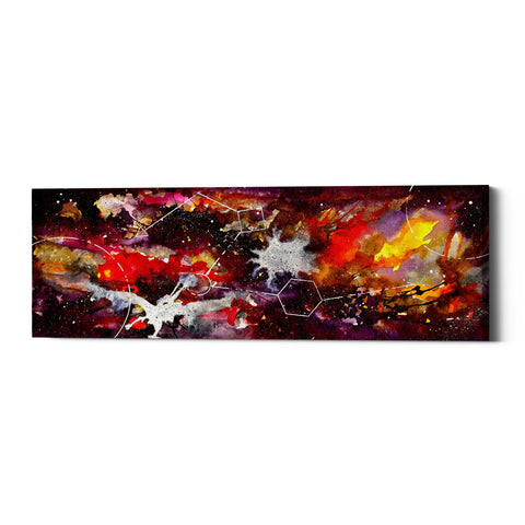 "Epic Graffiti ""Watercolor Nebula Burgundy"" by Craig Snodgrass, Giclee Canvas Wall Art"