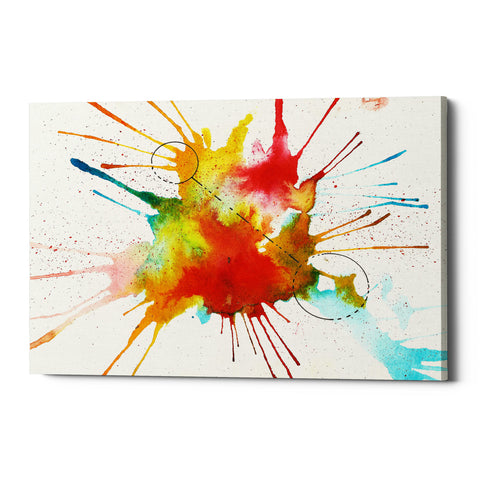 "Epic Graffiti ""Watercolor Splat"" by Craig Snodgrass, Giclee Canvas Wall Art"