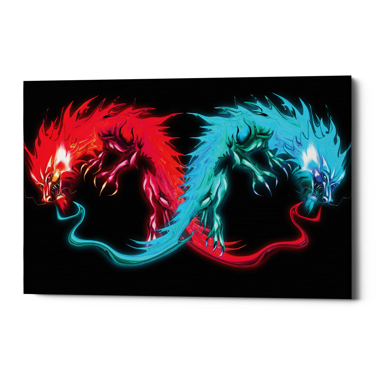 "Epic Graffiti ""Double Dragon"" by Michael Stewart, Giclee Canvas Wall Art"