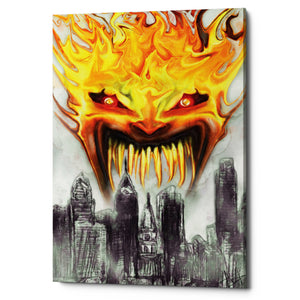 "Epic Graffiti ""Trial By Fire"" by Michael Stewart, Giclee Canvas Wall Art"