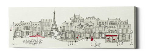 "Epic Graffiti ""World Cafe II Paris Panoramic"" by Avery Tillmon, Giclee Canvas Wall Art"
