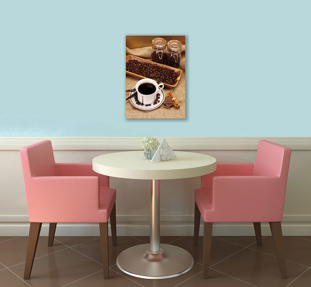 "Epic Graffiti Ode to Coffee Acrylic Wall Art, 14"" x 20"""