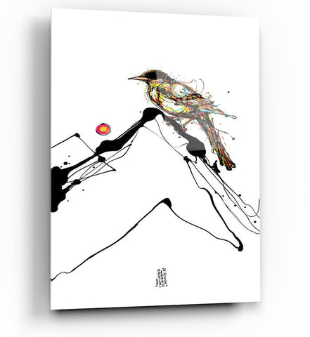 "Image of Epic Graffiti Inked Bird Series 3 Acrylic Wall Art, 20"" x 14"""