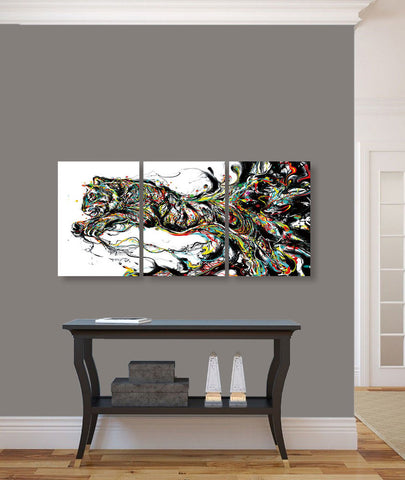"Image of Epic Graffiti ""Tiger Graffiti"" Acrylic Wall Art, 42"" x 20"""