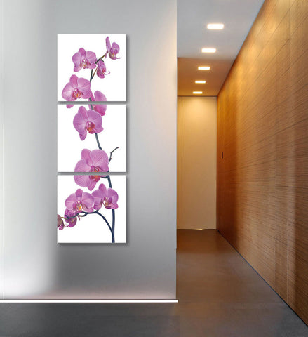 "Image of Epic Graffiti 3 piece ""Orchid"" Acrylic Wall Art, 20"" x 60"""