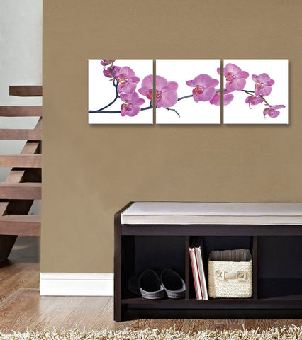 "Epic Graffiti 3 piece ""Orchid"" Acrylic Wall Art, 20"" x 60"""