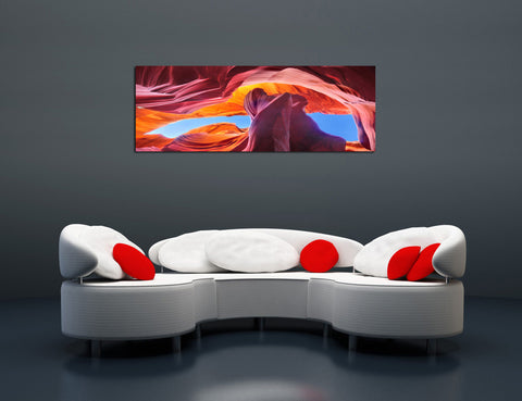"Epic Graffiti ""Canyon Above"" in a High Gloss Acrylic Wall Art, 60"" x 20"""