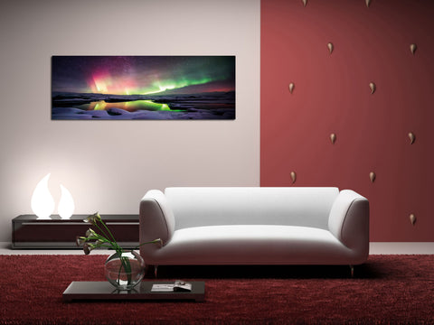 "Image of Epic Graffiti ""Magic In The Mist"" in a High Gloss Acrylic Wall Art, 60"" x 20"""
