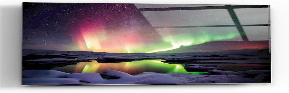"Epic Graffiti ""Magic In The Mist"" in a High Gloss Acrylic Wall Art, 60"" x 20"""