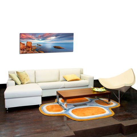 "Image of Epic Graffiti ""Red Rock Lake"" in a High Gloss Acrylic Wall Art, 60"" x 20"""