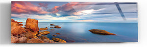 "Epic Graffiti ""Red Rock Lake"" in a High Gloss Acrylic Wall Art, 60"" x 20"""