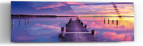 "Epic Graffiti ""Purple Haze"" in a High Gloss Acrylic Wall Art, 60"" x 20"""