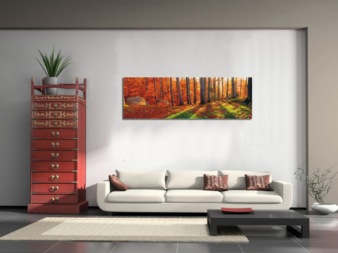 "Image of Epic Graffiti ""Into The Woods"" in a High Gloss Acrylic Wall Art, 60"" x 20"""