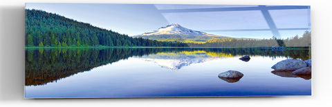 "Epic Graffiti ""Mountain Reflections"" in a High Gloss Acrylic Wall Art, 60"" x 20"""