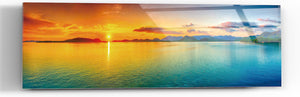 "Epic Graffiti ""Gypsy Sunset"" in a High Gloss Acrylic Wall Art, 60"" x 20"""