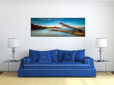 "Image of Epic Graffiti ""Driftwood Dreams"" in a High Gloss Acrylic Wall Art, 60"" x 20"""