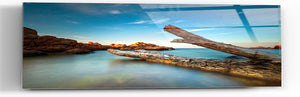 "Epic Graffiti ""Driftwood Dreams"" in a High Gloss Acrylic Wall Art, 60"" x 20"""
