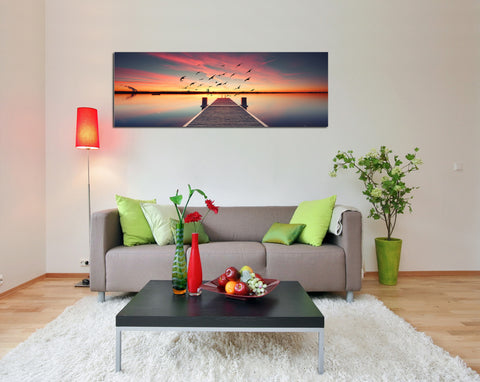 "Image of Epic Graffiti ""Seek To Sea More"" in a High Gloss Acrylic Wall Art, 60"" x 20"""
