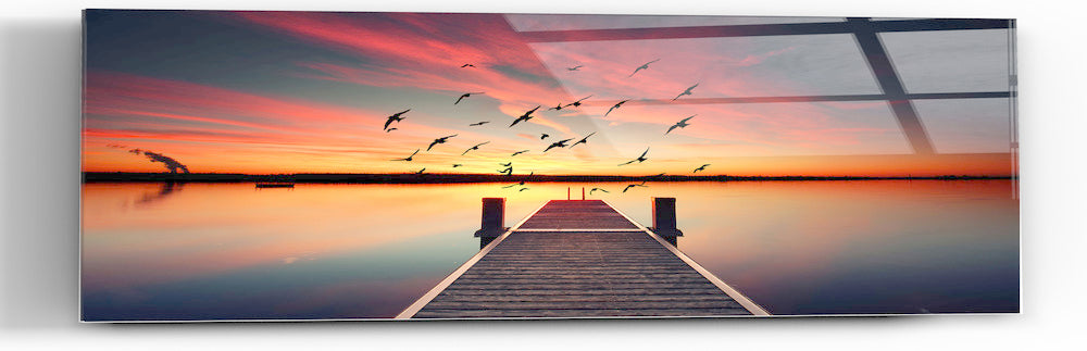 "Epic Graffiti ""Seek To Sea More"" in a High Gloss Acrylic Wall Art, 60"" x 20"""