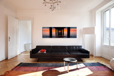 "Image of Epic Graffiti ""Don't Feed The Birds"" in a High Gloss Acrylic Wall Art, 60"" x 20"""