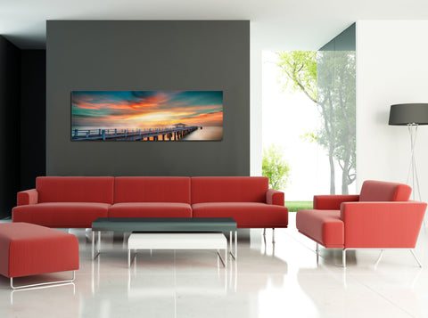 "Image of Epic Graffiti ""Not What It A-Piers"" in a High Gloss Acrylic Wall Art, 60"" x 20"""