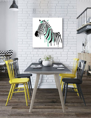 "Image of Epic Graffiti ""Painted Zebra"" Acrylic Wall Art, 24"" x 24"""