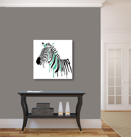 "Epic Graffiti ""Painted Zebra"" Acrylic Wall Art, 24"" x 24"""
