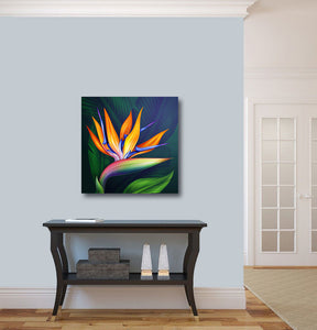 Epic Graffiti Flower of Paradise Acrylic Wall Art, 24