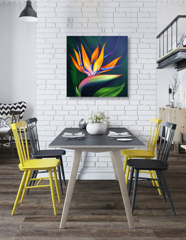 "Image of Epic Graffiti Flower of Paradise Acrylic Wall Art, 24"" x 24"""