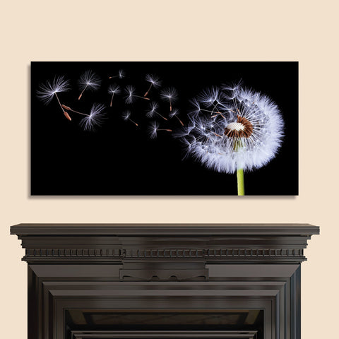 "Image of Epic Graffiti ""Flying Dandelion"" on High Gloss Acrylic Wall Art, 48"" x 24"""