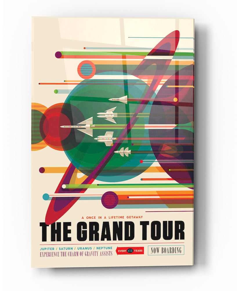 "Epic Graffiti Visions of the Future:The Grand Tour Acrylic Wall Art, 20"" x 28"""