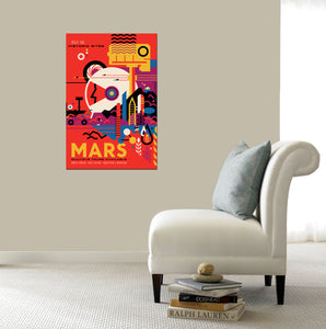 Epic Graffiti Visions of the Future: Mars Acrylic Wall Art, 20